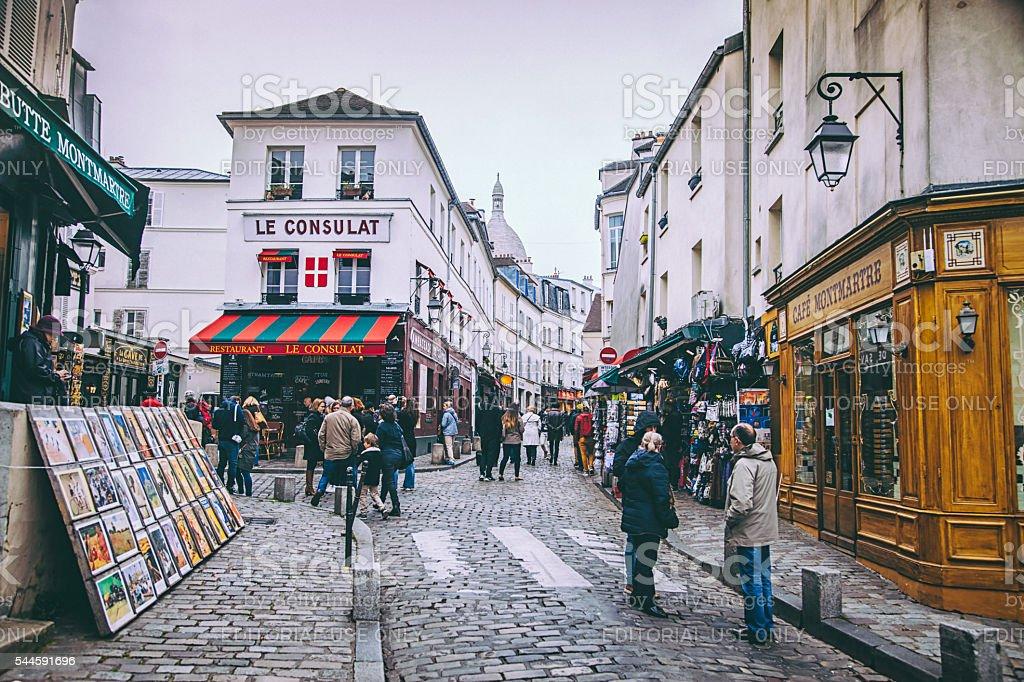 Montmartre, Paris stock photo