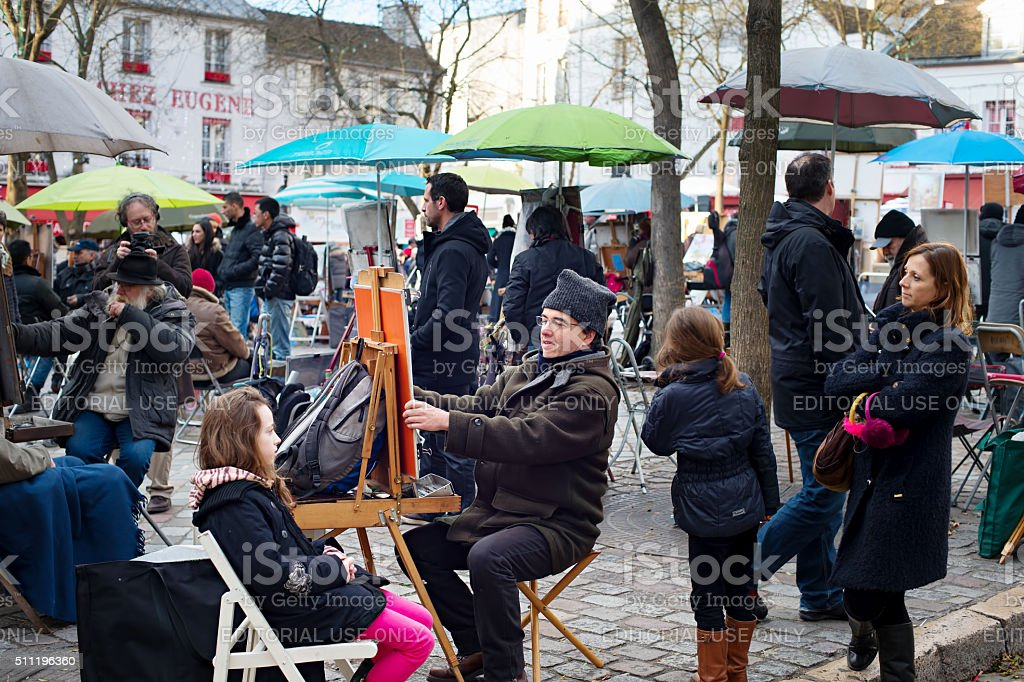 Montmartre scene, Paris stock photo