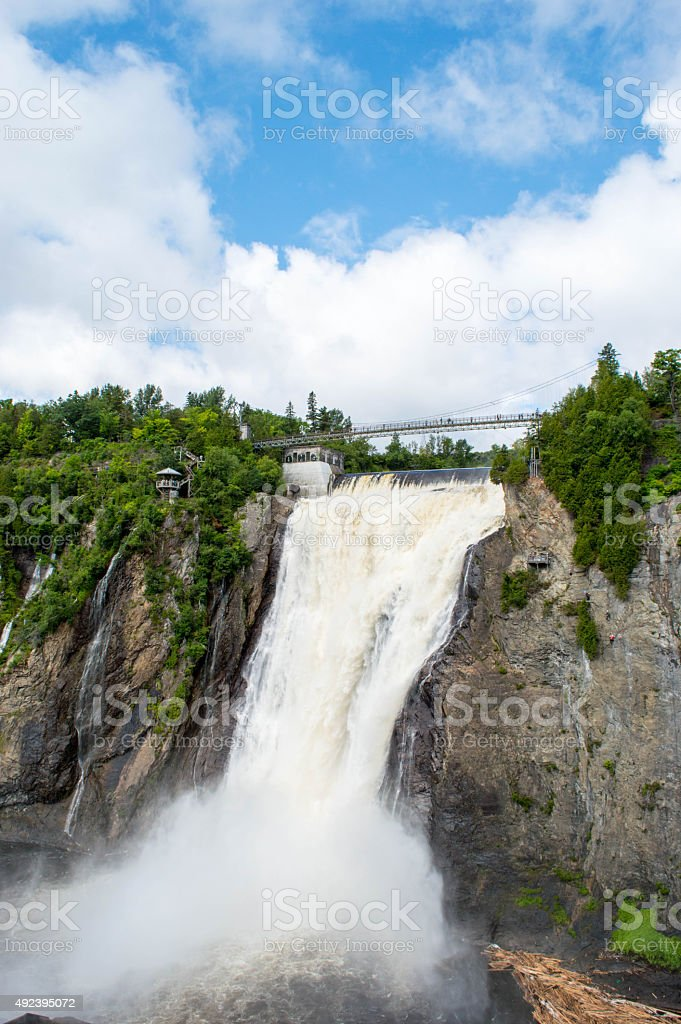 Montmorency Falls in Summer stock photo
