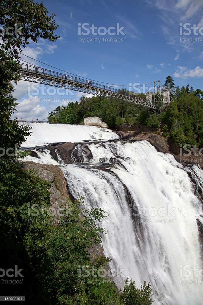 Montmorency Falls in Summer, Quebec City, Canada stock photo