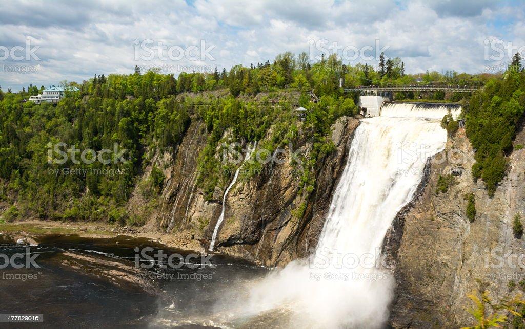 Montmorency Falls, Quebec, Canada stock photo
