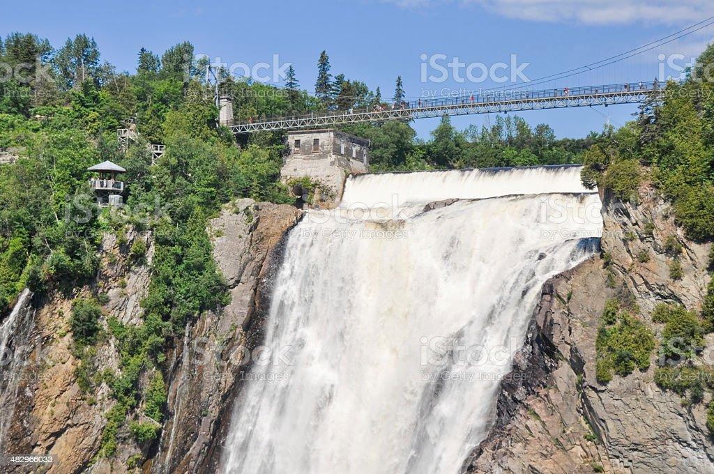 Montmorency Falls, Quebec (Canada) stock photo