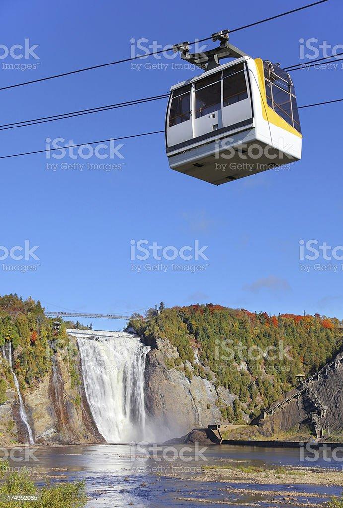 Montmorency Waterfalls Aerial Tramway stock photo