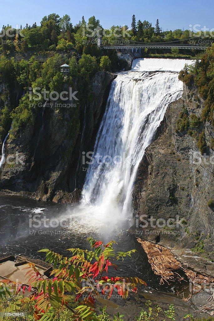 Montmorency Waterfalls stock photo