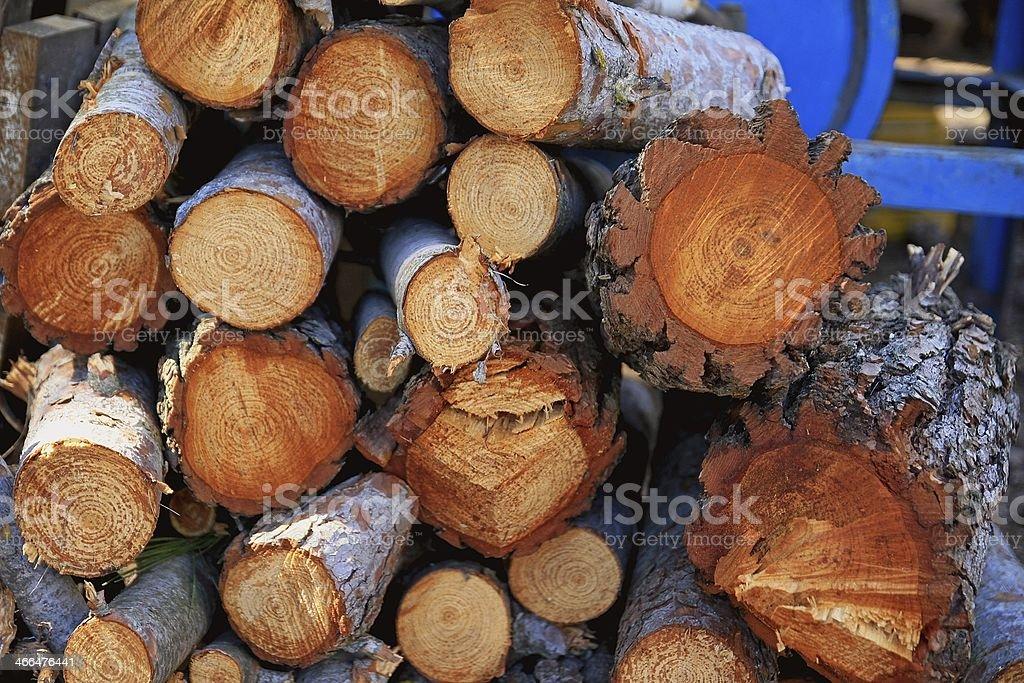 Monton de troncos recien cortados stock photo