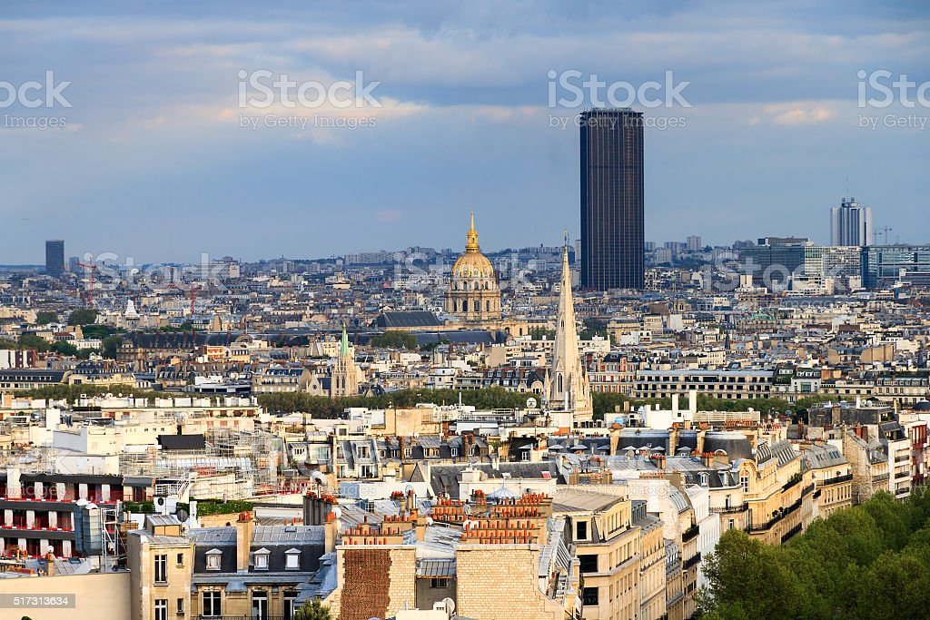 Montparnasse skyline stock photo