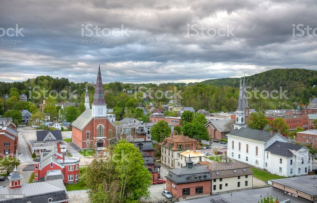 Montpelier Vermont stock photo