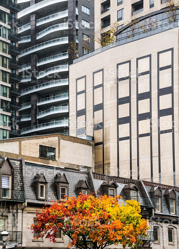 Montreal Architecture stock photo