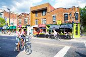 Montreal Avenue Mont-Royal Summer City Scene