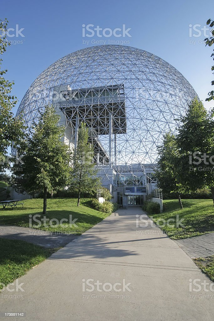 Montreal Biosphere Museum Entrance royalty-free stock photo