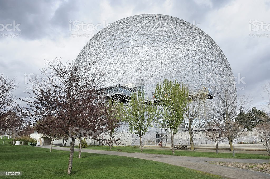 Montreal biosphere or geodesic dome royalty-free stock photo