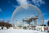 Montreal, Canada -  January 16th 2015: The Biosphere
