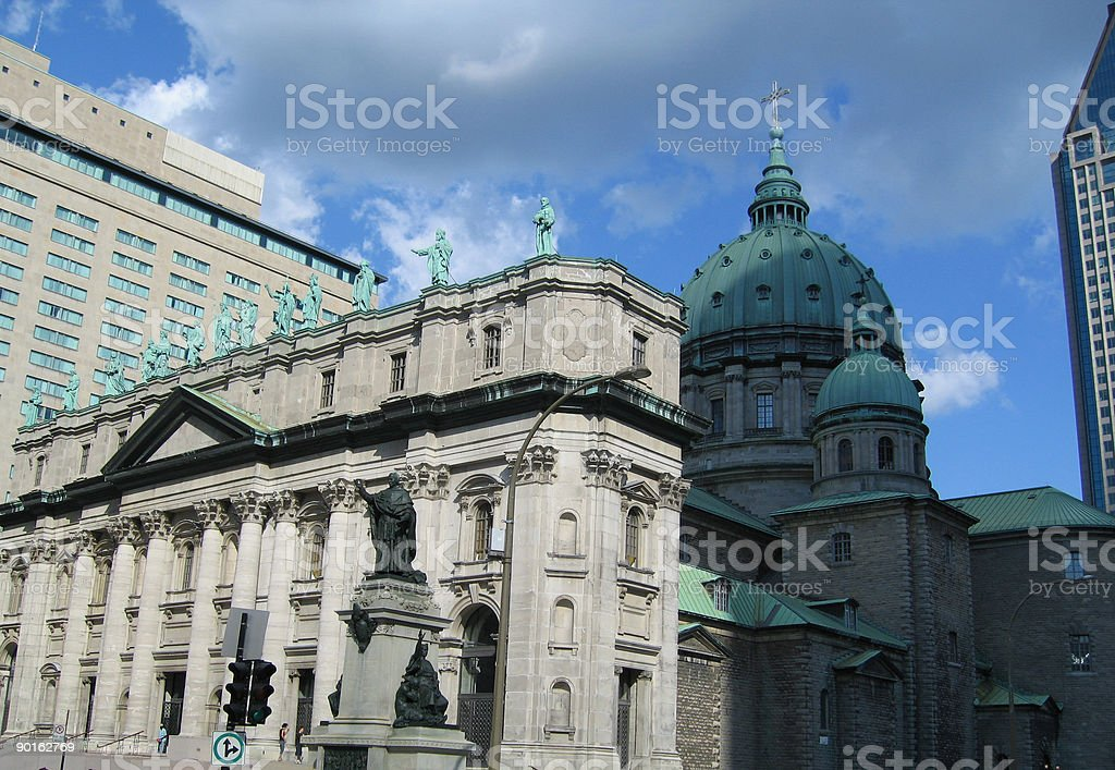 Montreal Cathedral royalty-free stock photo