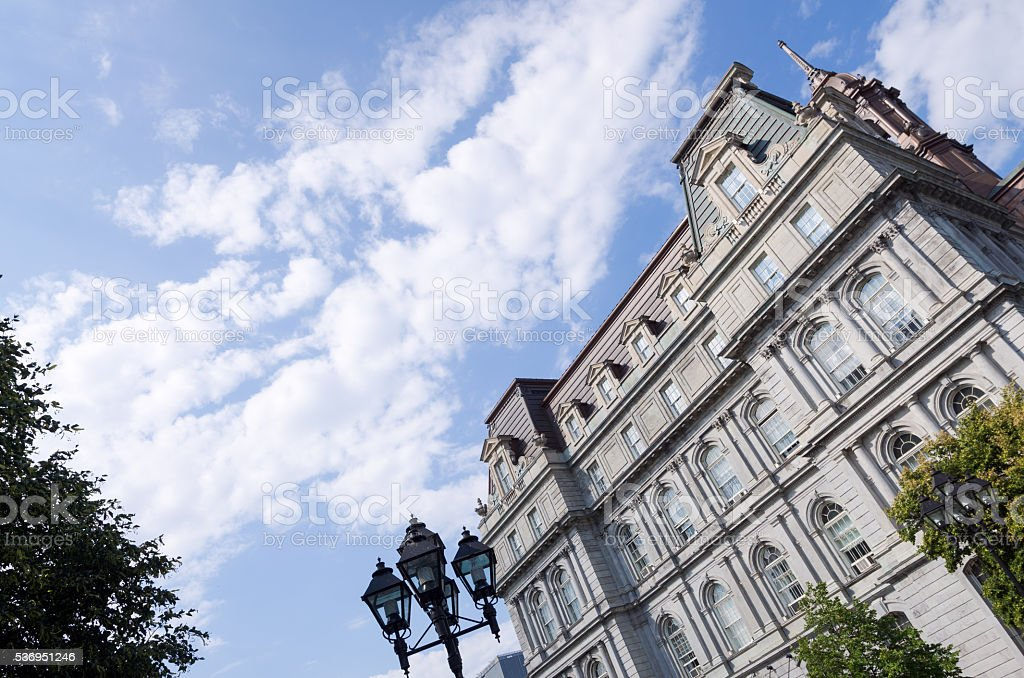 Montreal City Hall in Quebec stock photo