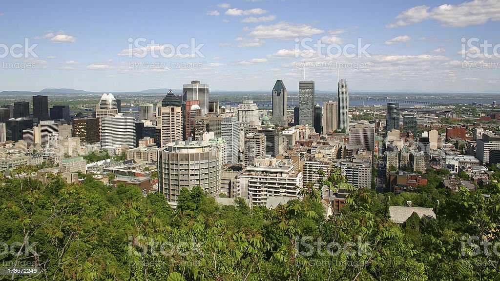 Montreal City in August royalty-free stock photo
