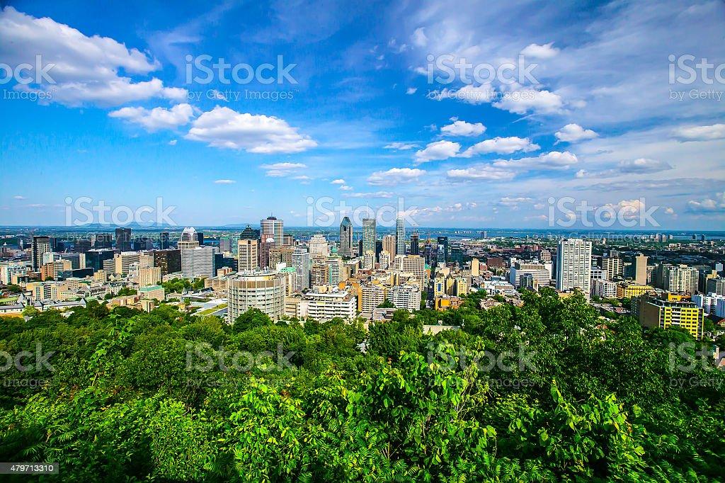 Montreal City Skyline stock photo