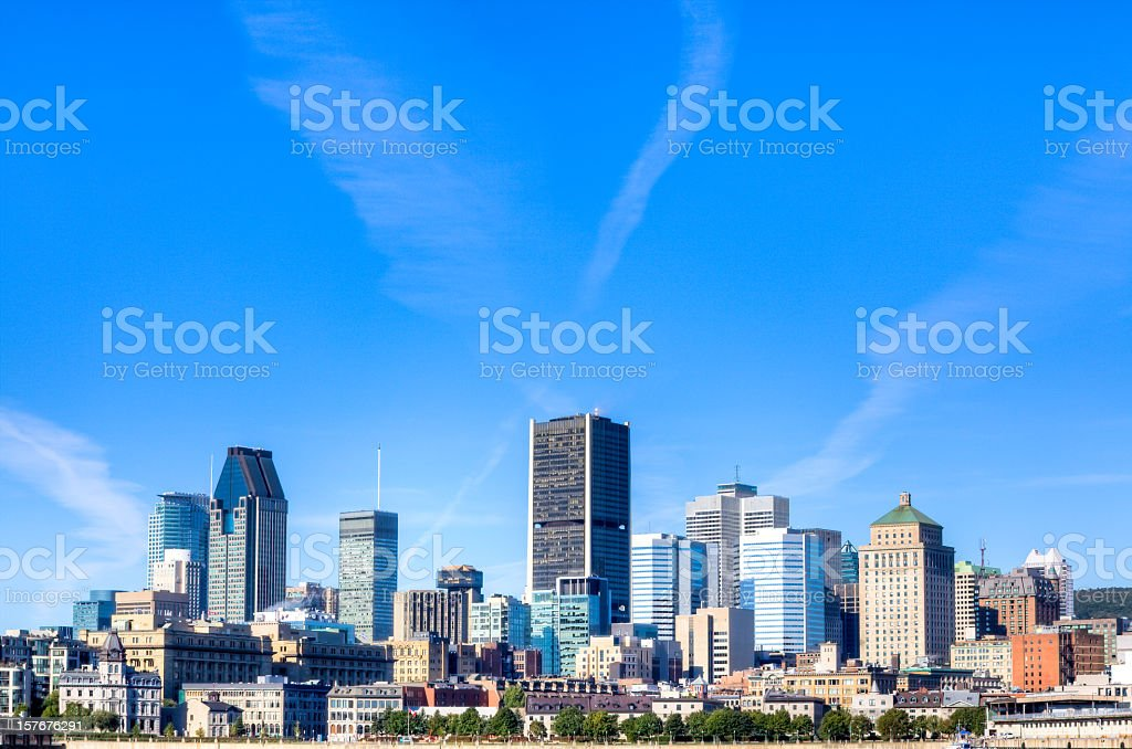 Montreal Cityscape in Summer royalty-free stock photo