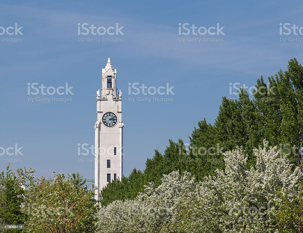 Montreal Clock Tower stock photo