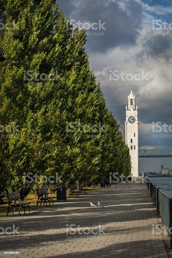 Montreal Clock Tower stock photo