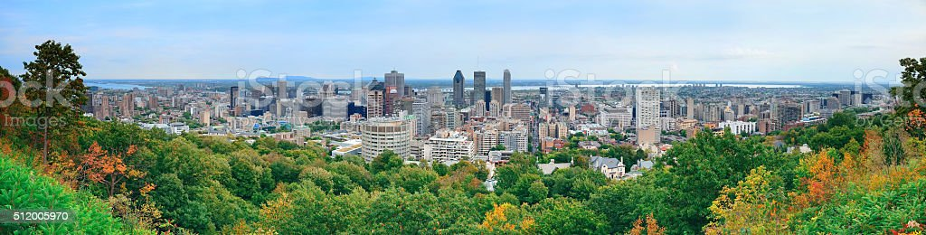 Montreal day view panorama stock photo
