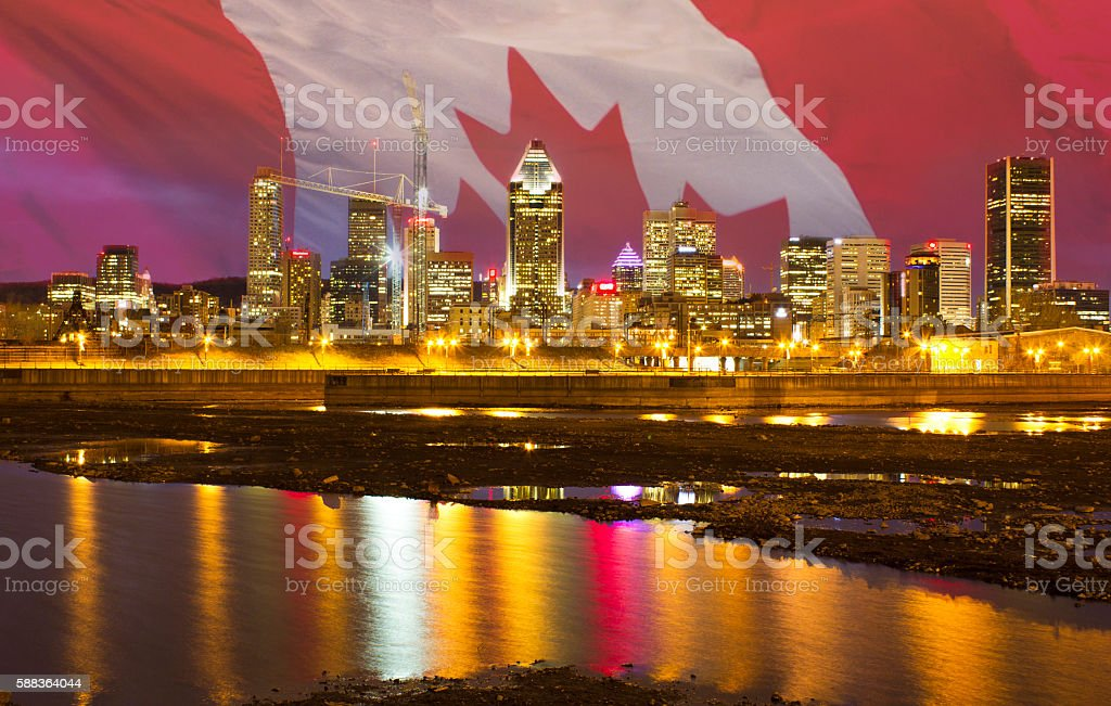 Montreal downtown stock photo