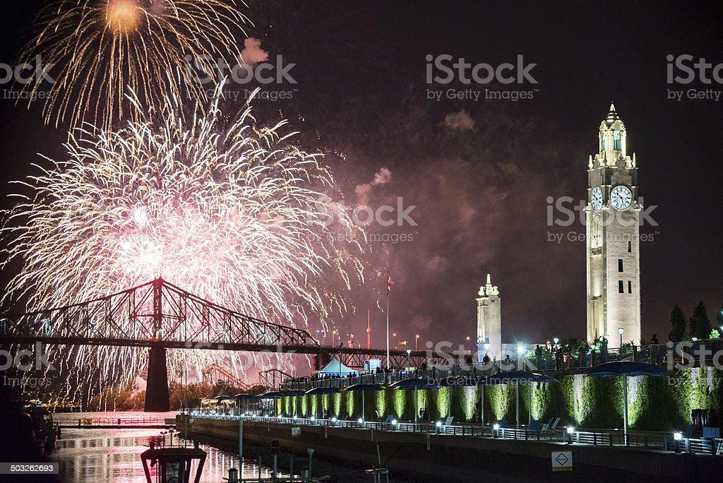 Montreal International Fireworks festival June 2014 stock photo