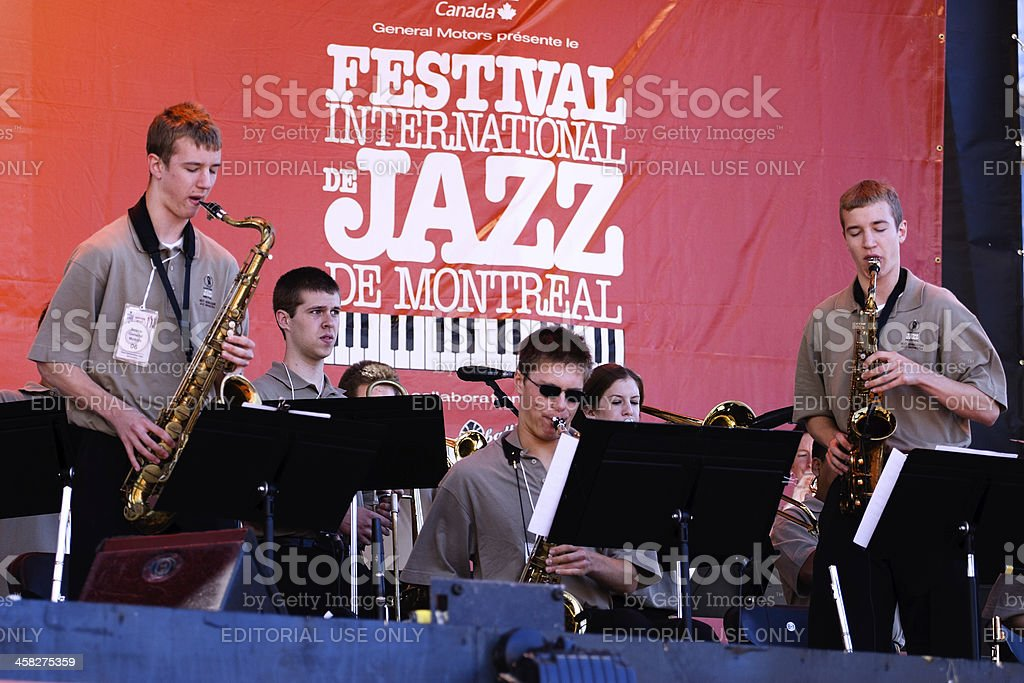 Montreal Jazz Festival stock photo