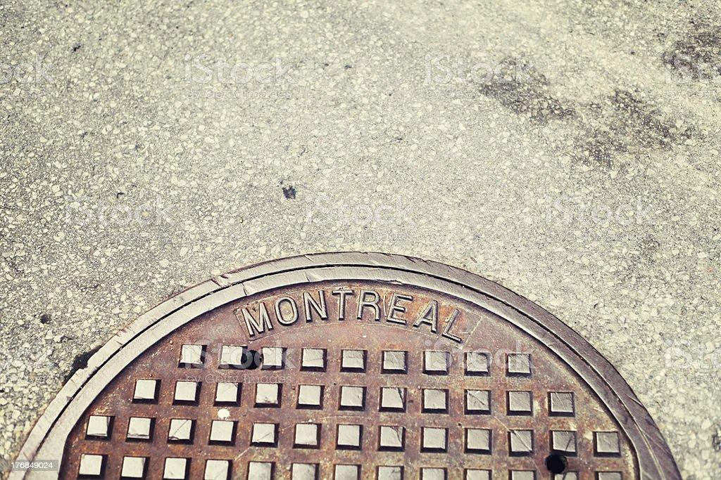 Montréal Bouche d'égout photo libre de droits