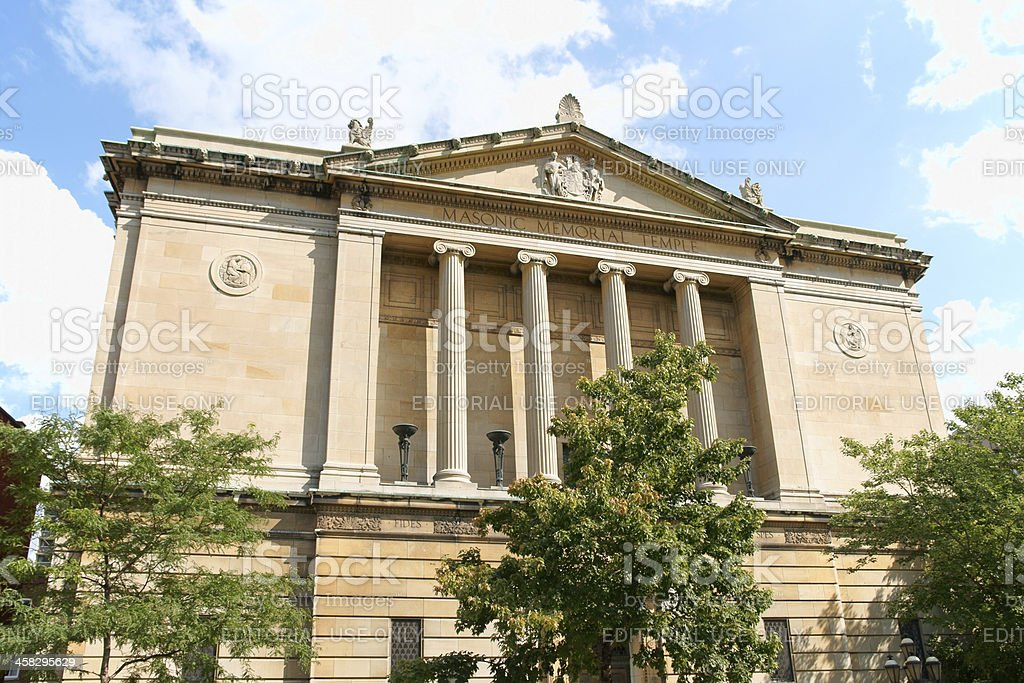 Montreal Masonic Memorial Temple stock photo
