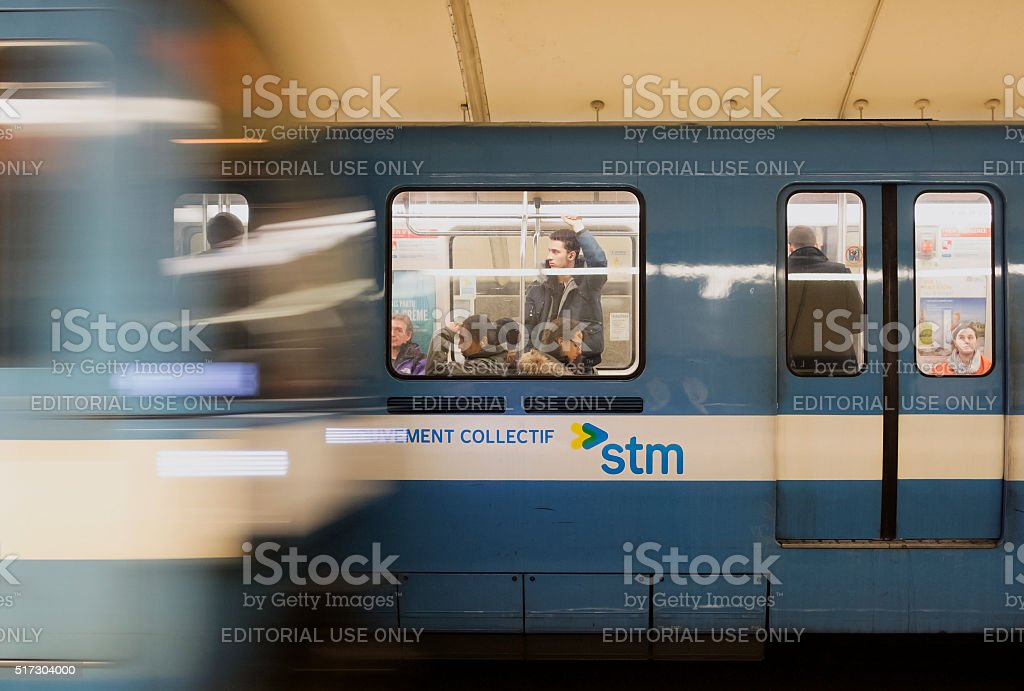 Montreal Metro Station stock photo
