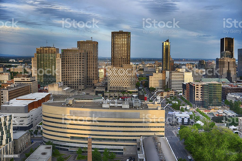 Montreal Place D'Armes stock photo