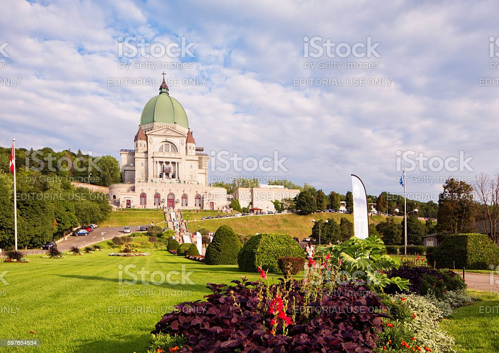 Montreal Saint-Joseph Oratory with park access stock photo