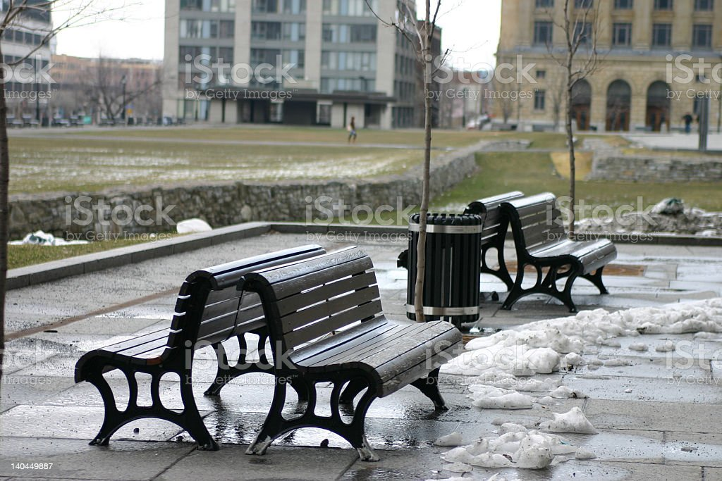 montreal sitting place royalty-free stock photo