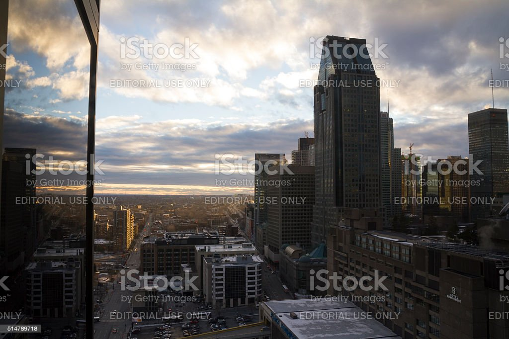 Montreal, Canada - February 02, 2016: Montreal skyline downtown stock photo