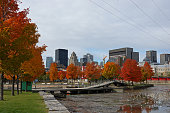 Montreal Skyline in Indian Summer