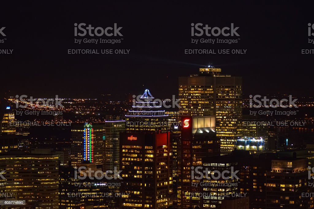 Montreal skyline in Quebec stock photo