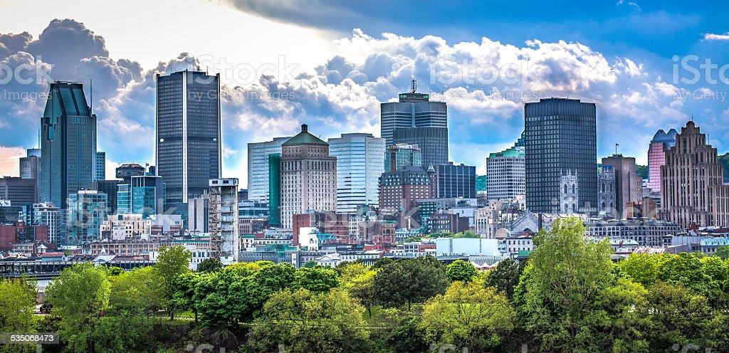 Montreal skyline. stock photo