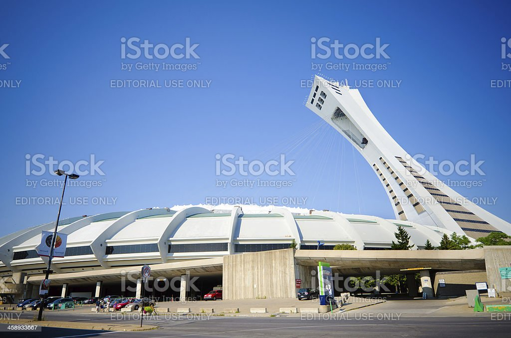 Montreal's Olympic Stadium royalty-free stock photo