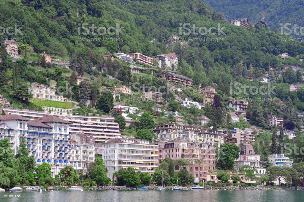 Montreux in Switzerland stock photo