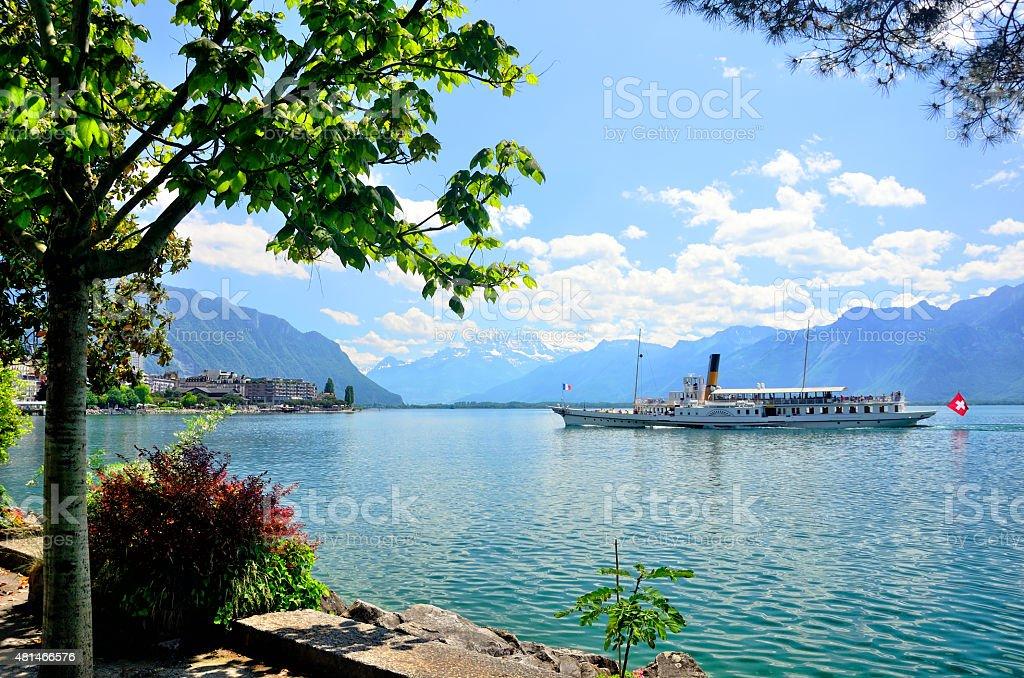 Montreux, Switzerland stock photo