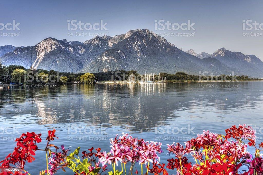 Montreux,Switzerland stock photo