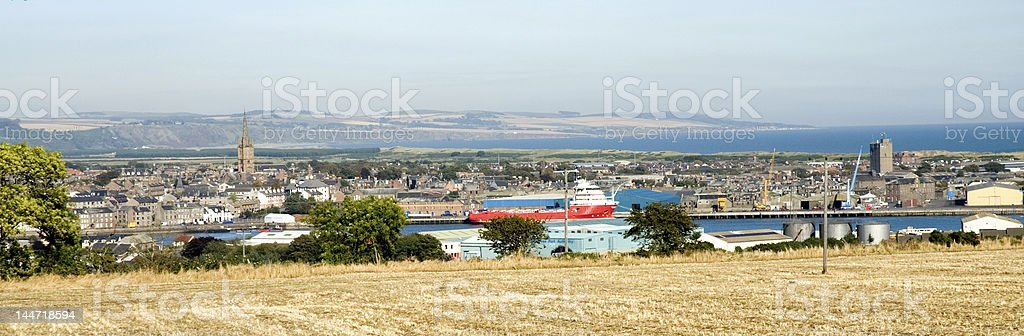 Montrose, Angus, Scotland harbour and town stock photo