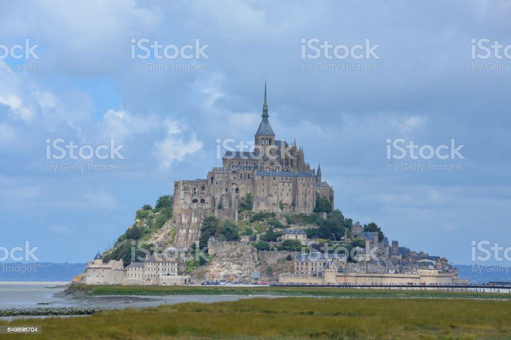 Mont-Saint-Michel, abbey stock photo