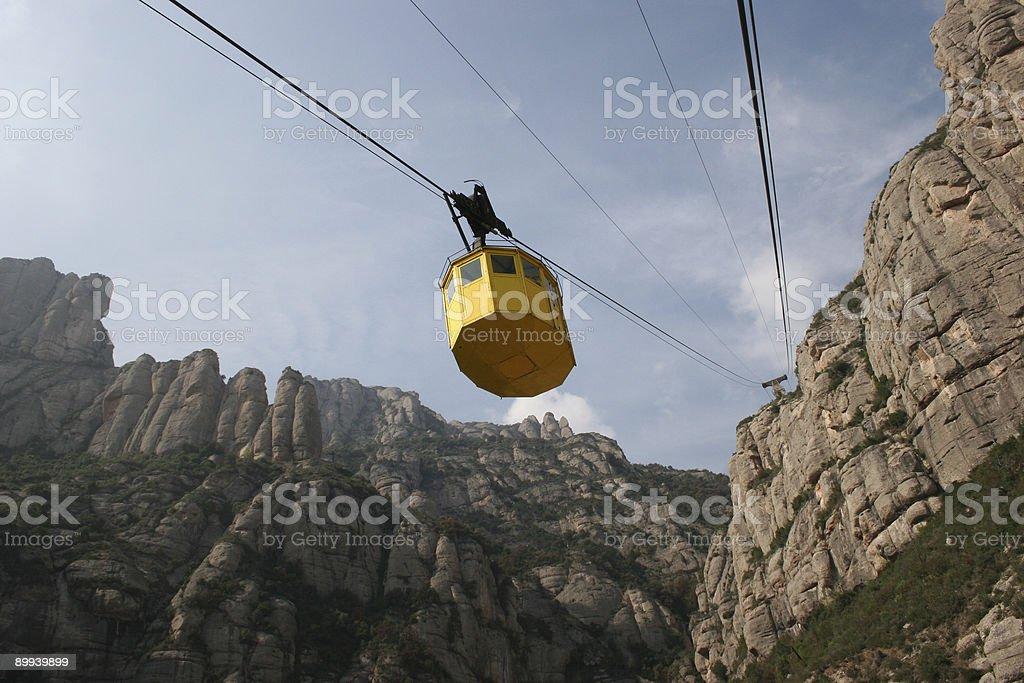Montserrat Cable Car royalty-free stock photo