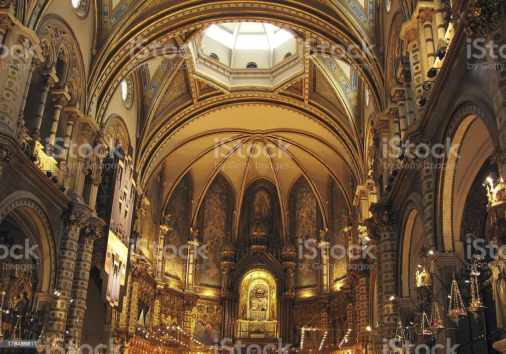 Montserrat church royalty-free stock photo
