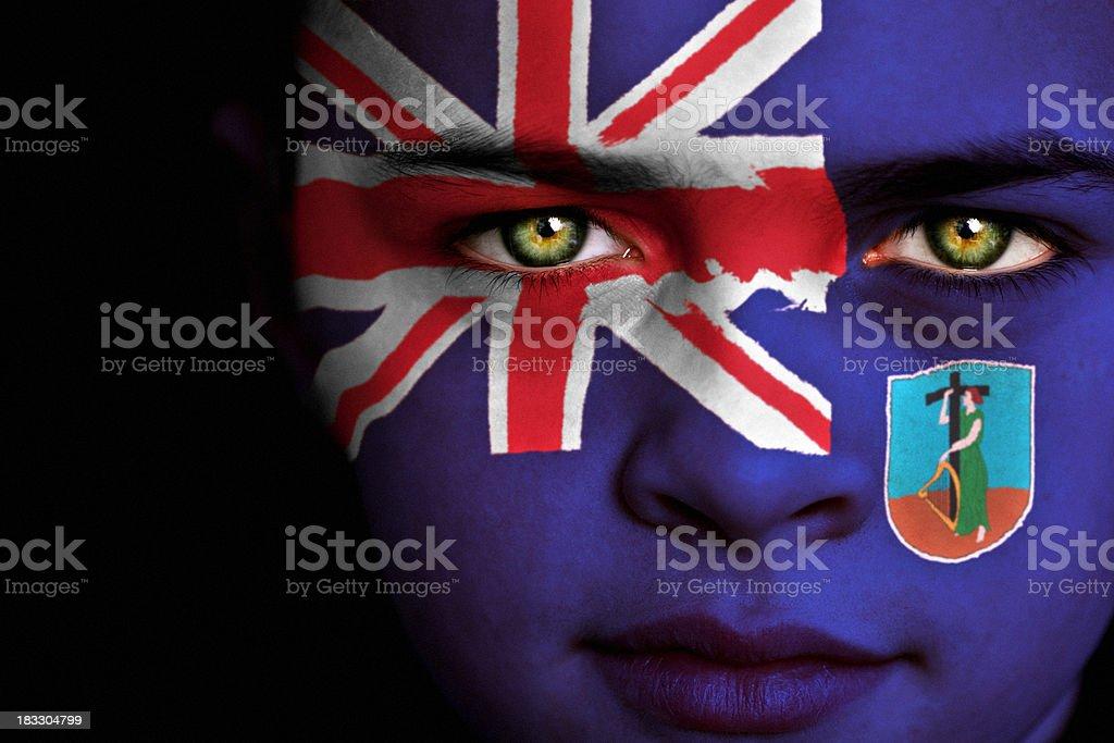 Montserrat flag boy stock photo