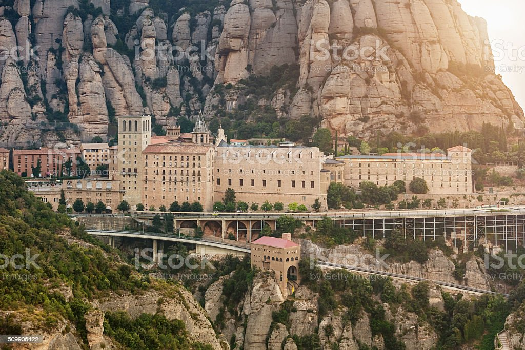 Montserrat Monastery Barcelona Catalonia Spain stock photo
