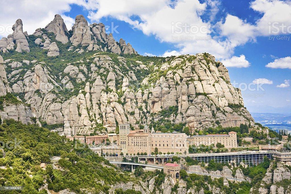 Montserrat Monastery, Catalonia, Spain royalty-free stock photo