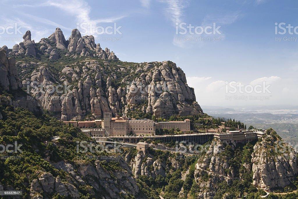 Montserrat Monastery near Barcelona, Catalonia, Spain. stock photo