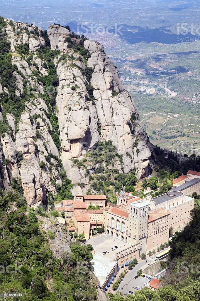 Montserrat monastery stock photo